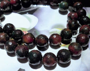 Faceted Agate beads 10 multicolor 10 mm