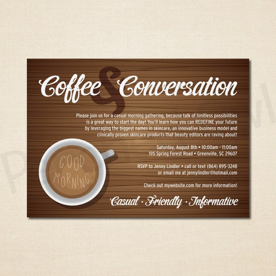 Coffee and conversation invitation direct selling business like this item stopboris Choice Image