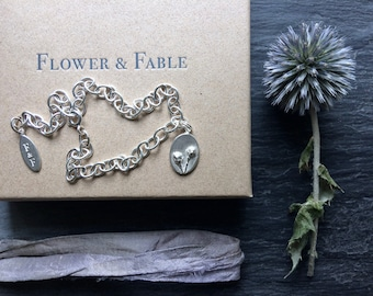 Hawthorn Charm - For Hope. Sterling Silver charm available individually or as a bracelet, bangle, necklace or earrings.
