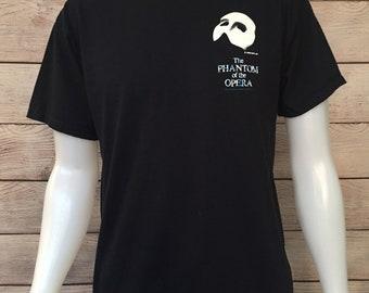 Rare Vintage Phantom of the Opera T shirt Phantom of the Opera Mask
