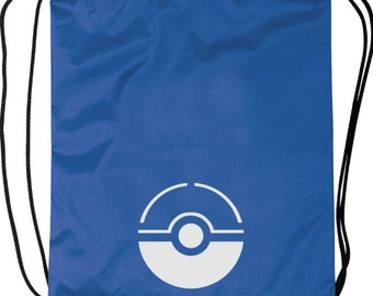 Pokemon Go - Team Mystic Drawstring Backpack with Reflective Pokeball