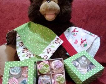 Box of Baby Burp Cloths- Burpee Buns