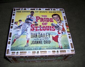 Baseball Movies Cigar Box Stadium