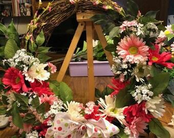 Grapevine Wreath, Gerber Daises