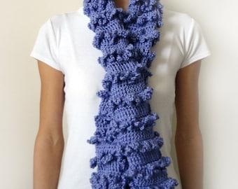 Loopy Ruffle Scarf - PDF Crochet Pattern - Instant Download