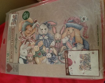 Design by Alma Lynne Iron-On Transfer,57311 Bunny Collector Transfer,
