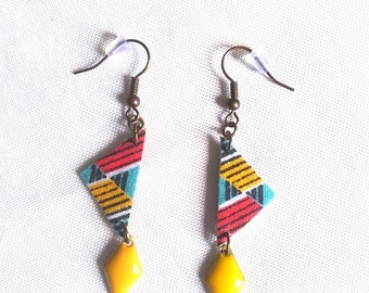 Earrings graphic patterns - jewelry designer fabric
