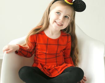 Halloween Mickey || Minnie Birthday Ears || Mini Hat || First Birthday Outfit || Minnie Ears || Disney Any Age Birthday Outfit |