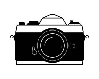 Camera Photocamera Lens Photography Photographic Picture Shoot .SVG .EPS .PNG Vector Space Clipart Digital Download Circuit Cut Cutting