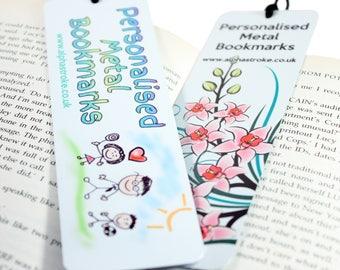 Personalised Metal Photo Bookmark With Tassel
