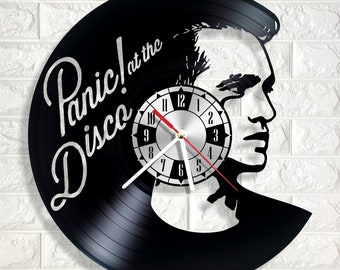 Panic! at the Disco wall clock made out of real vinyl record wonderful gift for any occasion