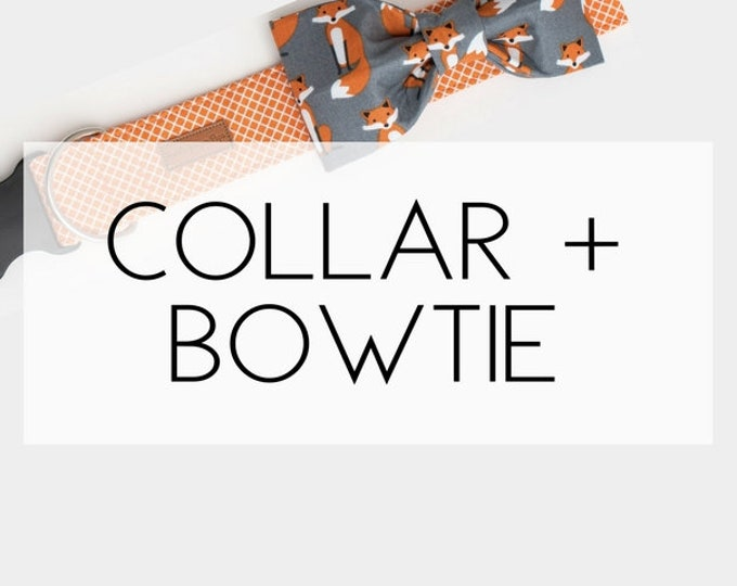 Featured listing image: Any Dog Collar + Bowtie Package