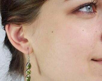 Peridot Earrings Peridot Jewelry Dangle Earrings Drop Earrings Birthstone Jewelry Bridesmaid Gift for Mom Gift  Graduation Gift Bridal gift