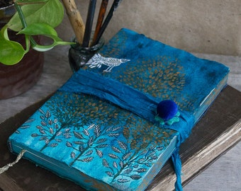 Tree of life hand painted art journal with Fabriano drawing paper   OOAK Ready to ship