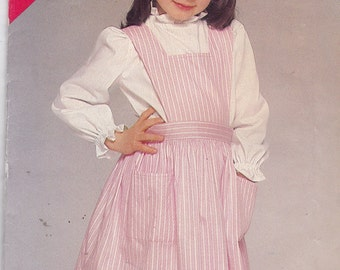 See and Sew 5320 Vintage Pattern Girls Jumper  Size 5,6,6x