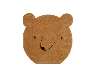 Bear Paper Napkin, Small, Let's Explore, Meri Meri Party Decor, Party Supplies, Tableware, Summer, Camp, Western, Party Theme