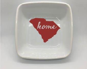 "State ""HOME"" DISH - ALL states available - Car Decal - Home - South Carolina - Kentucky - Texas - Alabama"