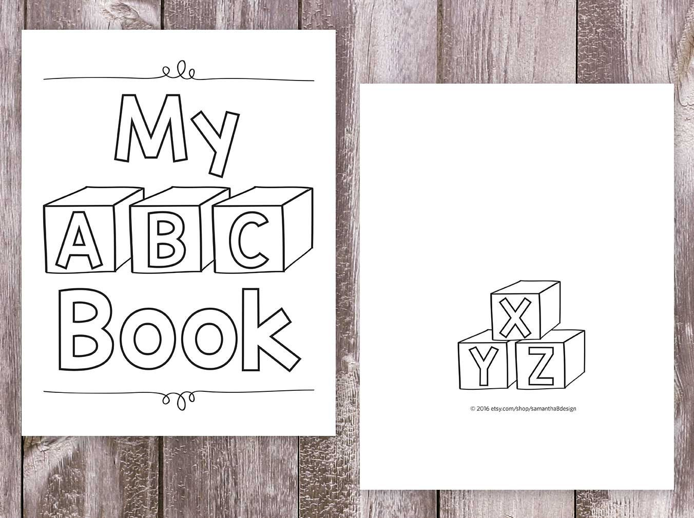 Alphabet Coloring Books / Printable Coloring Pages / My ABC Book / Letter Practice / Preschool ...