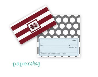 Checkbook Cover, MISSISSIPPI STATE, Collegiate Checkbook Cover, Custom Checkbook Cover, Vinyl Checkbook Cover