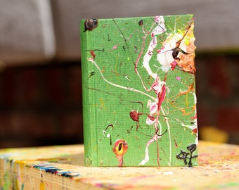 Semikolon journal painted by Rox