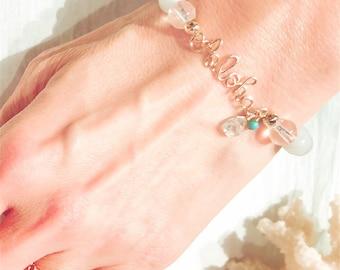 14KGF Aloha Natural Stone Bracelet