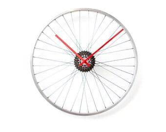 Bicycle Wheel Clock, Unusual Wall Clock, Large Wall Clock, Bicycle Clock, Unique Wall Clock, Oversized Wall Clock, Industrial Wall Clock