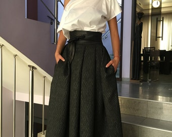 Maxi Skirt, Ball Skirt, Maxi Skirt, Plus Size Clothing, Plus Size Maxi Skirt, Black Skirt, Full Circle Skirt, Evening Skirt, Black Skirt,