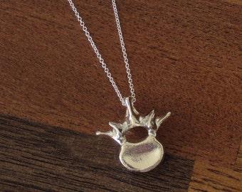 Anatomical Jewelry - Lumbar (L1) Vertebra Pendant in Silver