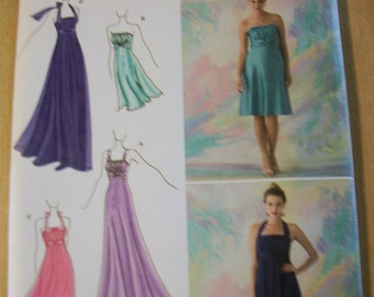 Simplicity 2398 Misses (P5 12,14,16,18,20) Special Occasion dresses, each in two lengths