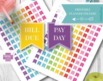 Pay Day | Bill Due | Budget| Planner  Stickers | Printable | Functional Stickers | for Erin Condren | Happy Planner | Plum Planner | Kikki K