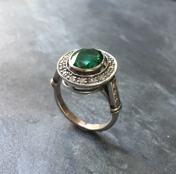 ring vintage emrald rings emerald