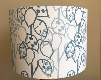Lampshade hand screen printed