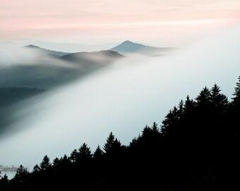North Carolina Wall Art 20 x 30 Photograph - Fog on the Mountain