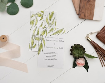 Forest Leaves Wedding Invite