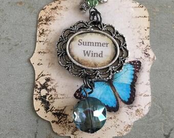 SUMMER WIND Pendant•Swarovski Crystal Pendant