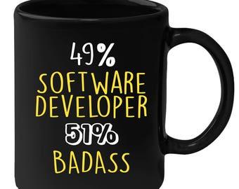Mug for Software Developer Gift for Software Developer Black mug, Gift for Coffee or Tea lover, Christmas gift for coworker