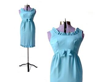 1960s Dress, 60s Dress, 1960s Blue Dress Small Dress, Blue 1960s Dress mod 60s dress Girls Costume vintage 60s dress dress womens xs