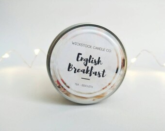 English Breakfast Candle | 4oz Scented Soy Candle | Bookish Candle Gift | Book Lover Gift