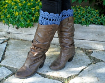 Crochet Boot Cuffs Pattern - Tall Grass Boot Cuffs Crochet Pattern with Instructions in Pictures and Writing - Instant Download!
