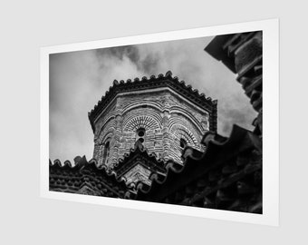 Greece Monastery Fine Art Print, 1:50 Limited Edition / home decor / decoration / photo / photography / black and white / lux / modern /