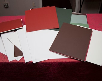 30+ 11x14 Mat Boards - Greens, Reds, Whites, Creams and more