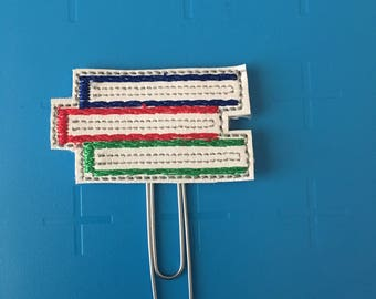 Stacked Books Planner Clip