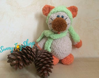 Soft toy, сat with amiguras, gift to the child, autumn gift, birthday gift, baby room decoration, original gift, soft toy
