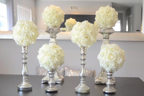 Set of luxury elegant wedding ivory hanging foam
