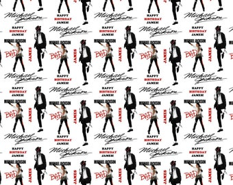 Personalised Wrapping Paper Michael Jackson Birthday Gift Wrap With Own Name