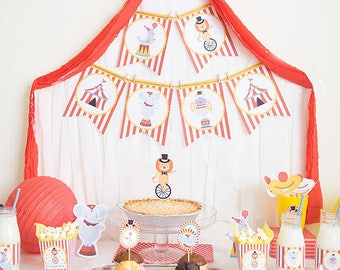 Printable Circus Pack - Circus Party Package - Circus Party Package - Personalized Printable