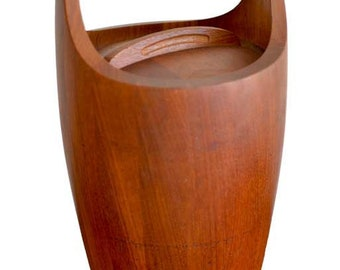 Large Staved Teak Ice Bucket by Jens Quistgaard for Dansk, ca. 1965