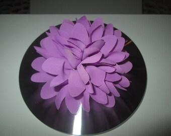 Pince à cheveux Fleur Mauve, Barrette, Broche cérémonie, mariage, enfants...