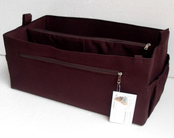Purse organizer for Longchamp Le Pliage171/2x13x9 (Bag Size4)- Bag organizer insert in Coffee Brown