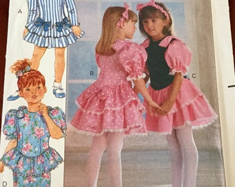 Butterick 5232 Toddlers Children Dress and Headband Pattern uncut Size 2-4